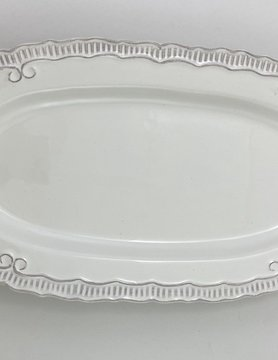 16x8.75 White Serving Tray-OVAL