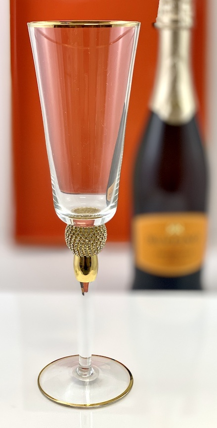 Rhinestone Champagne Flute