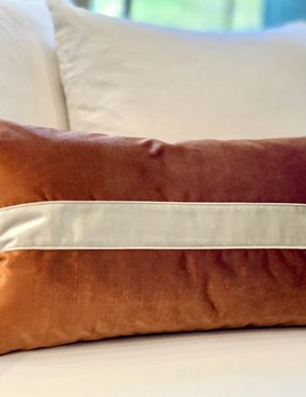 14x24 Shimmery Band Orange  Pillow