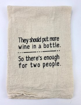 More Wine Tea Towel