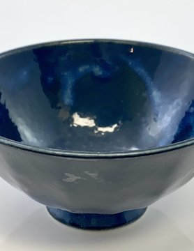 Serving Bowl Blue Porcelain