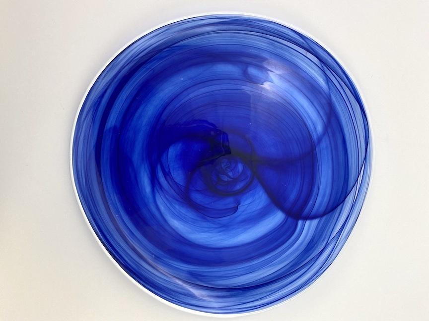 Alabaster Glass Plate INDIGO
