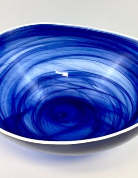 Alabaster Glass Bowl INDIGO