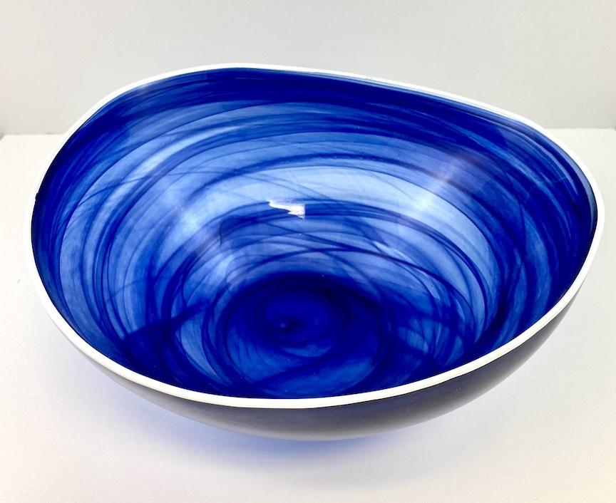 Alabaster Glass Bowl INDIGO