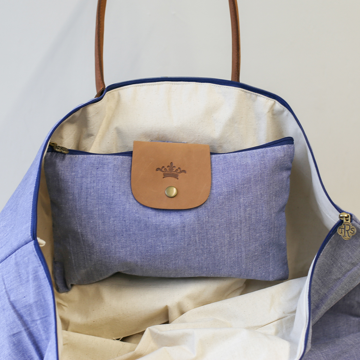 Blue Overnight Bag