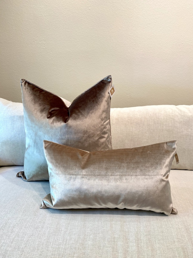 Luminous Latte Square Pillow Down