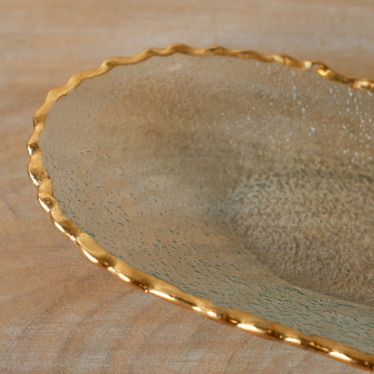 Oval Gold Edge Serving Tray