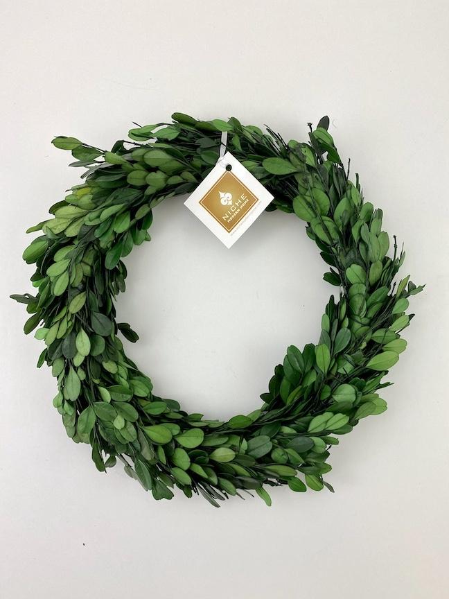 "Boxwood Wreath 9.75"""