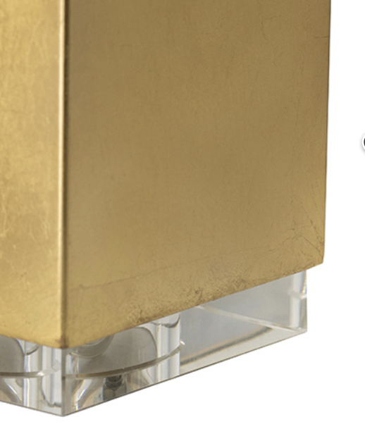 Gold Block Lamp 26""