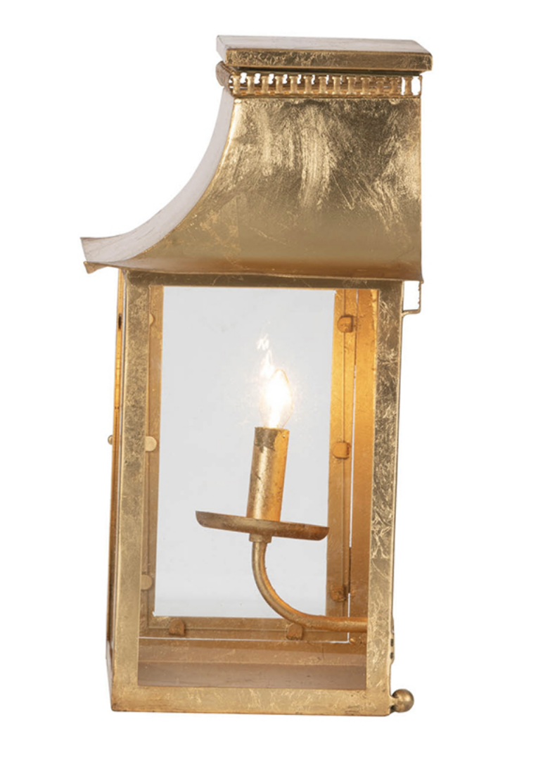 Goldleaf Lantern Wall Sconce