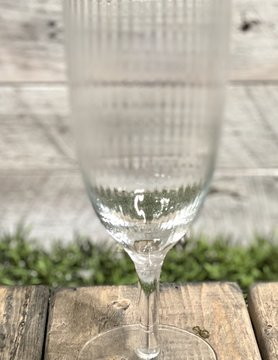 Gold Rim Stemmed Glass