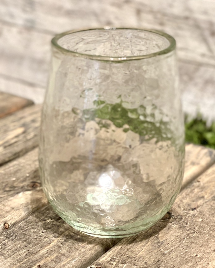 Stemless Recycled Glass Wine