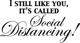 I Still Like You... Social Distancing Wine Glass
