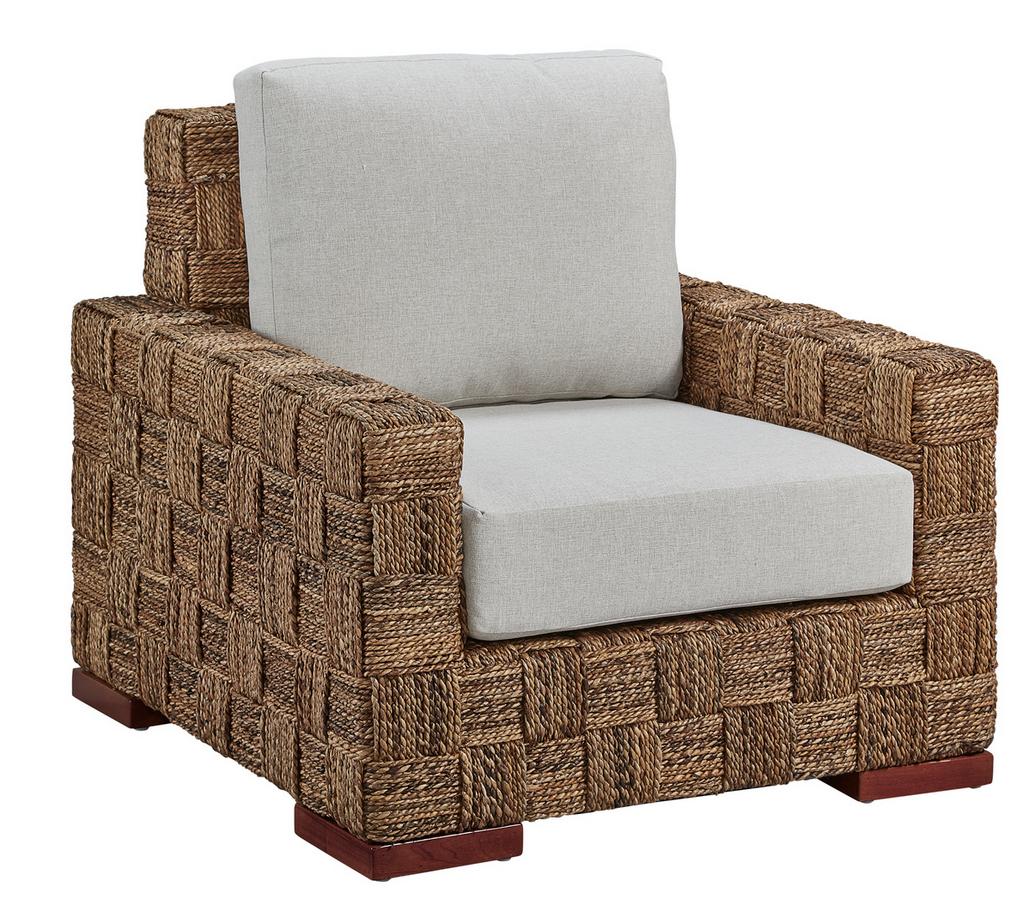 Williams Basketweave Club Chair