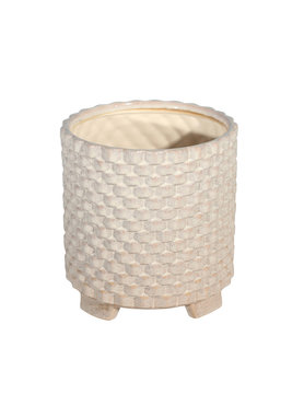 """Textured Footed Planter 8"""""""
