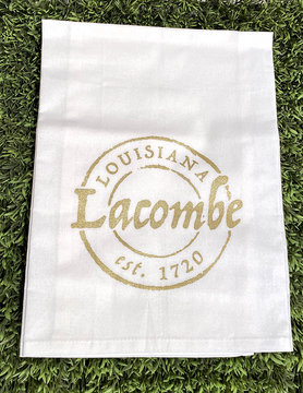 Lacombe Stamp Tea Towel