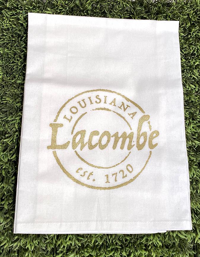 Lacombe Stamp Tea Towel