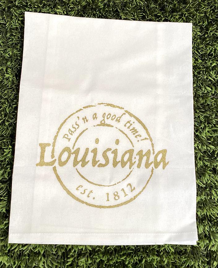 Louisiana Stamp Tea Towel
