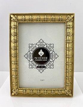Gold Fleur Bordered Frame 5x7