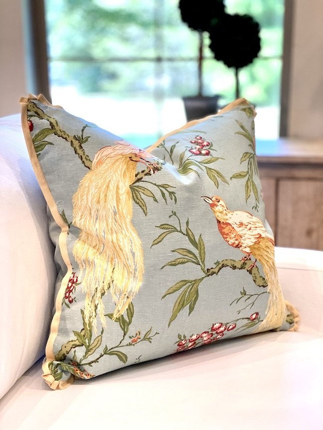 "22"" Spring Birds Pillow"