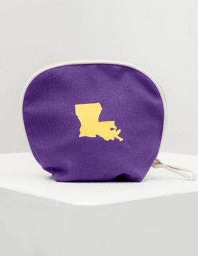 Louisiana Purp/Gold Cosmetic Bag