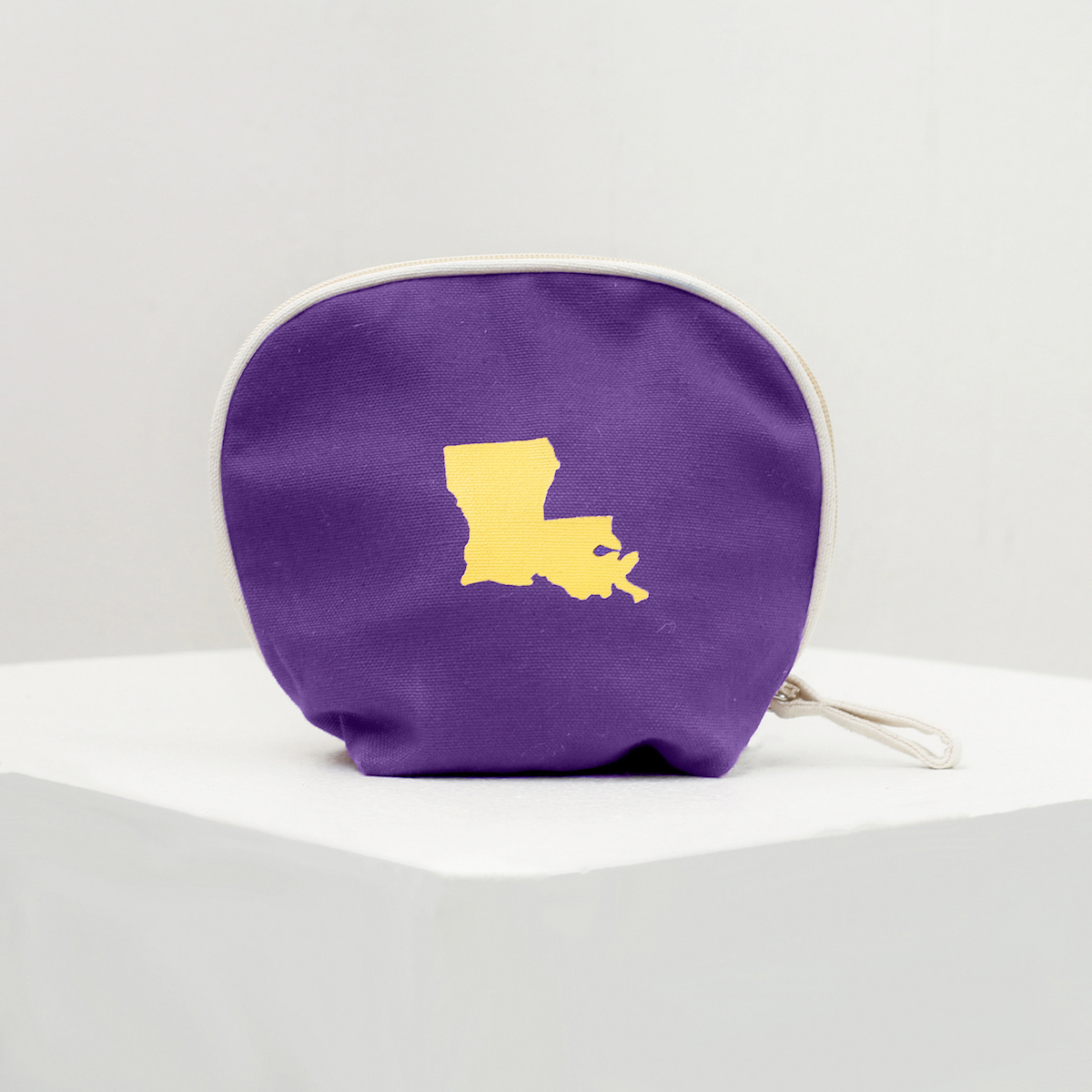 Louisiana Purp/Gold Cosmetic Bag