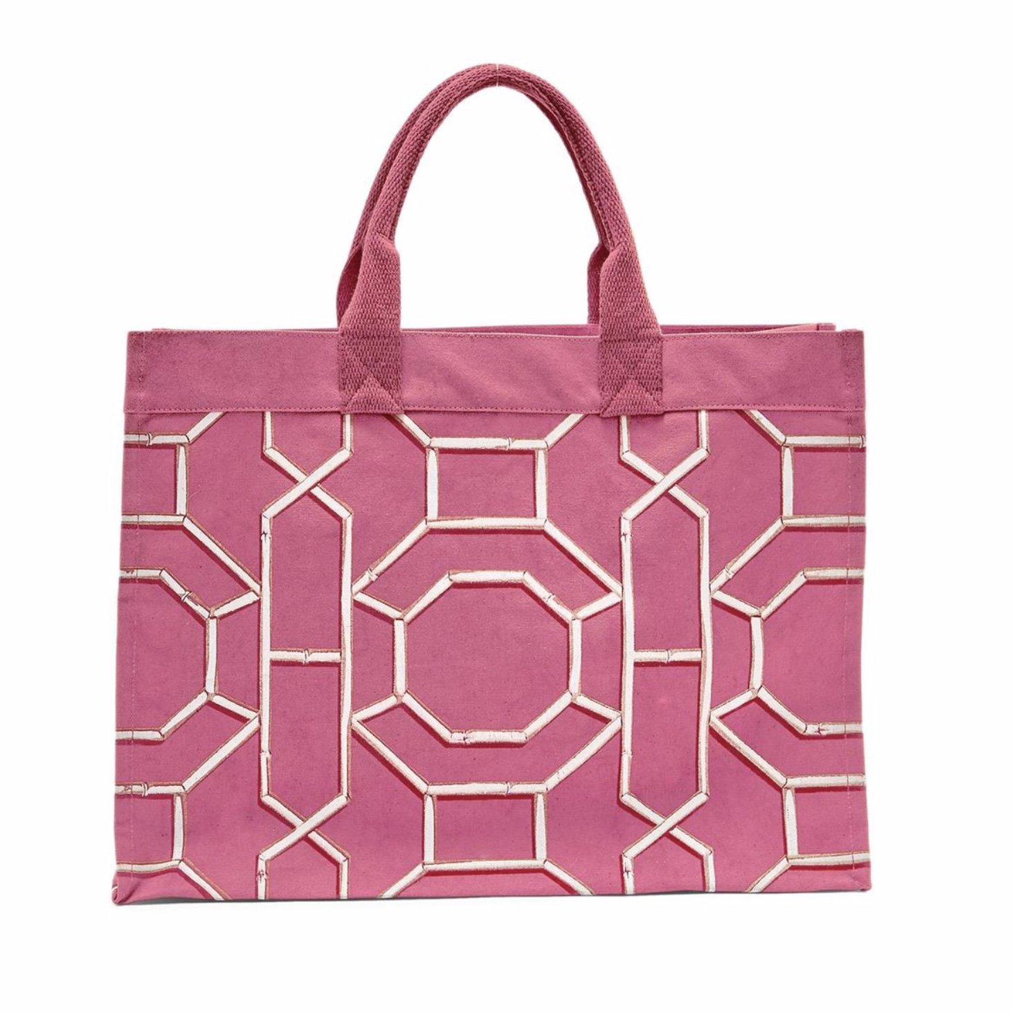 Chinoiserie Canvas Tote PINK
