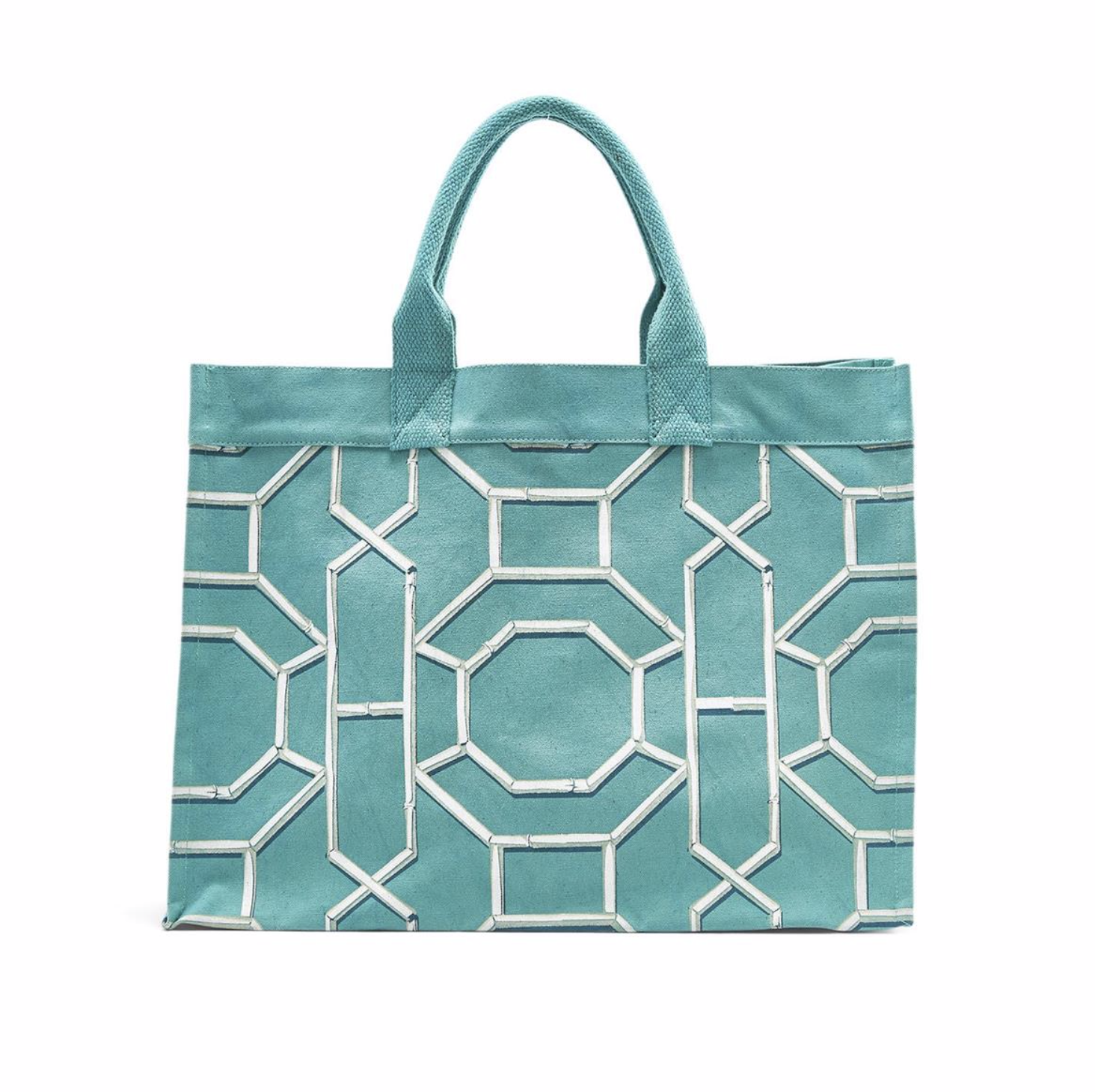 Chinoiserie Canvas Tote BLUE