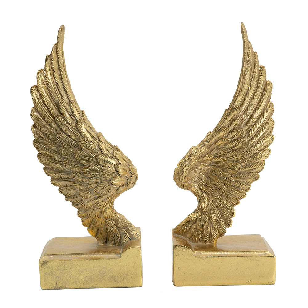 """Angel Wing Book Ends 9"""""""