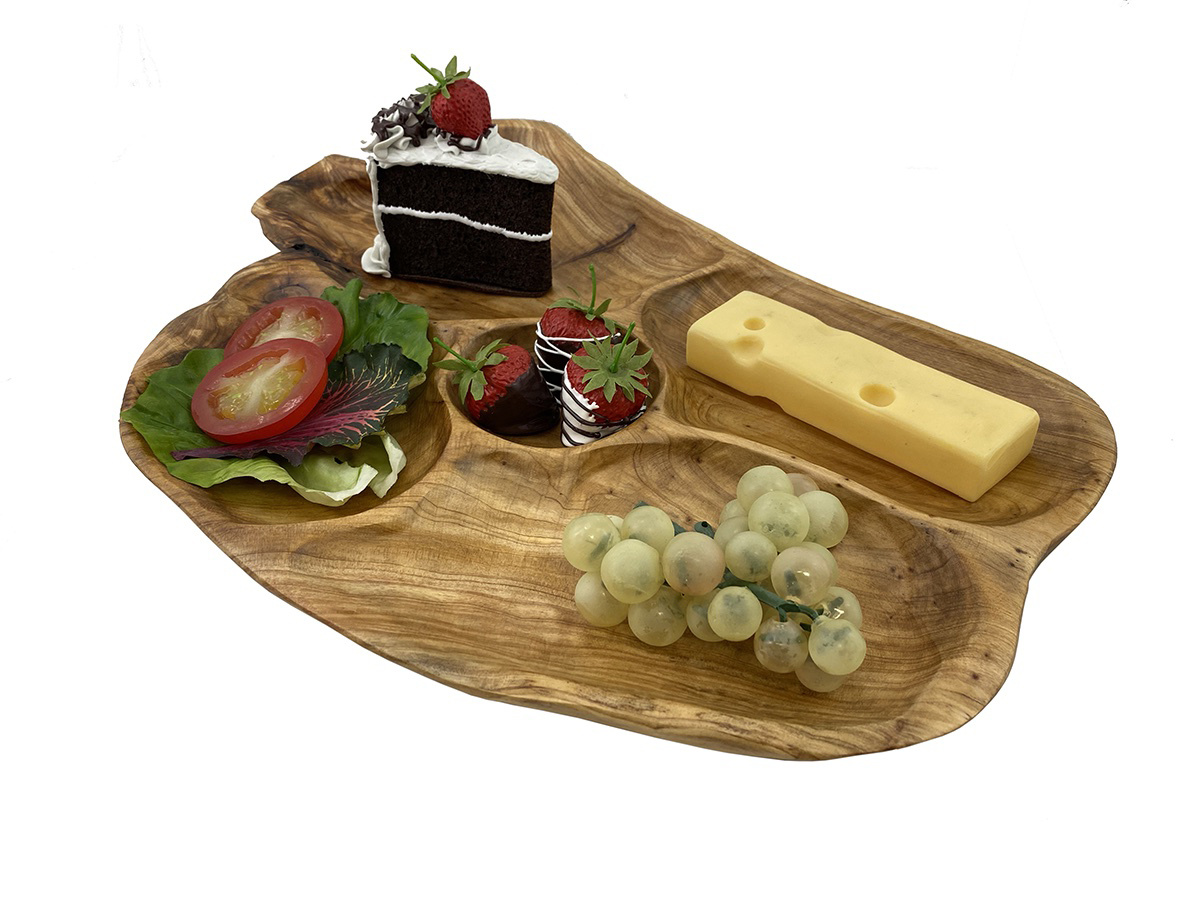 Cypress 5 Section Platter w/Dip Cup LG