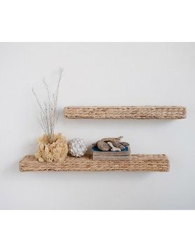 "Water Hyacinth Shelf 23.5""x4.75"""