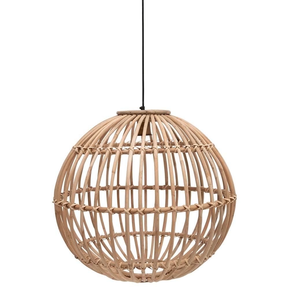 "Hand-Woven Rattan Pendant Lamp 23.5"""