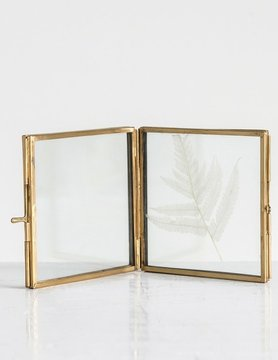 Hinged Brass Photo Frame 4x4