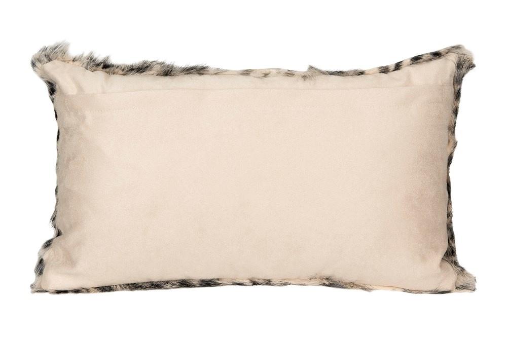"""Leopard Print Fur Pillow 12""""x20"""""""
