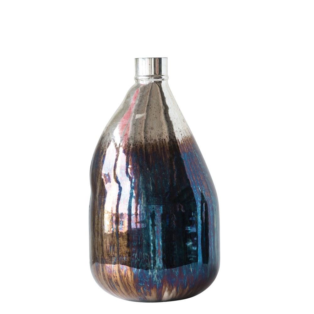 """Iridescent Balloon Vase 14.5"""""""