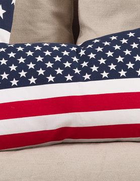 "14"" x 23"" American Flag Design Pillow"