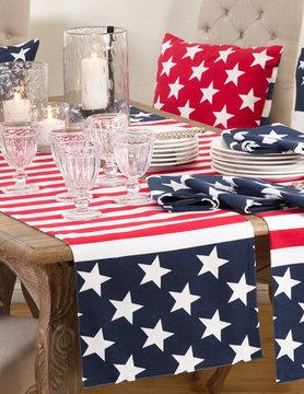 """16""""x 72"""" American Flag Design Runner"""