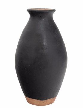 "Charcoal Terracotta Vase 8""x15"""