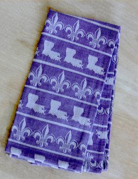 Louisiana Fleur Hand Towel PURPLE