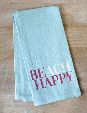 Beach Happy Hand Towel