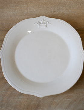 "Crown 8"" Platter WHT"