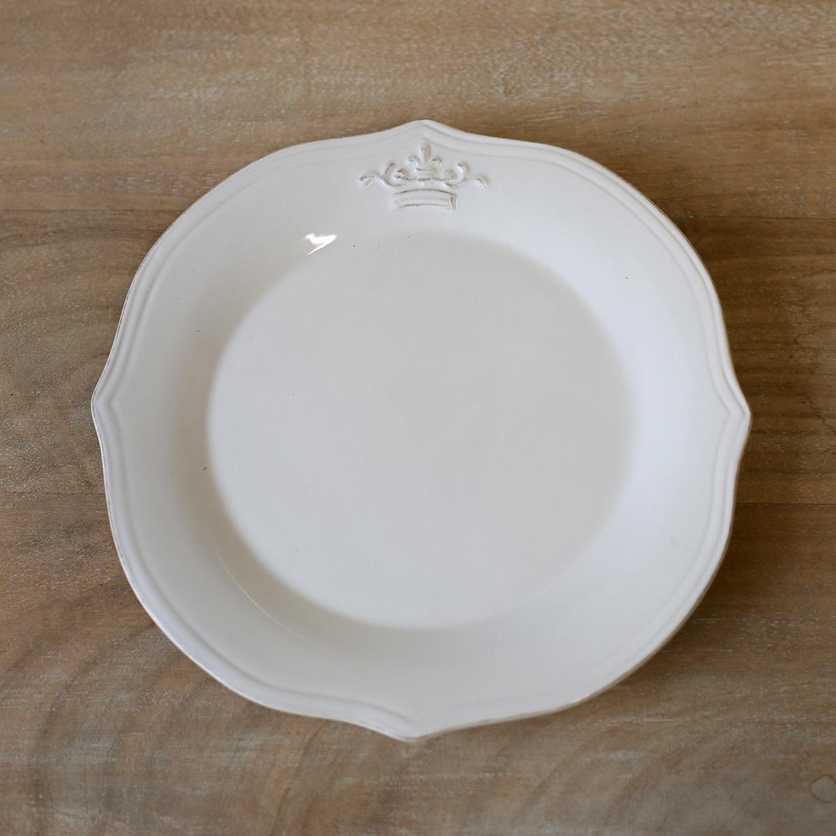 "Crown 8"" Platter WHT"