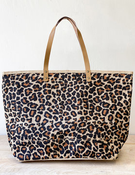 Leopard Classic Jute Bag