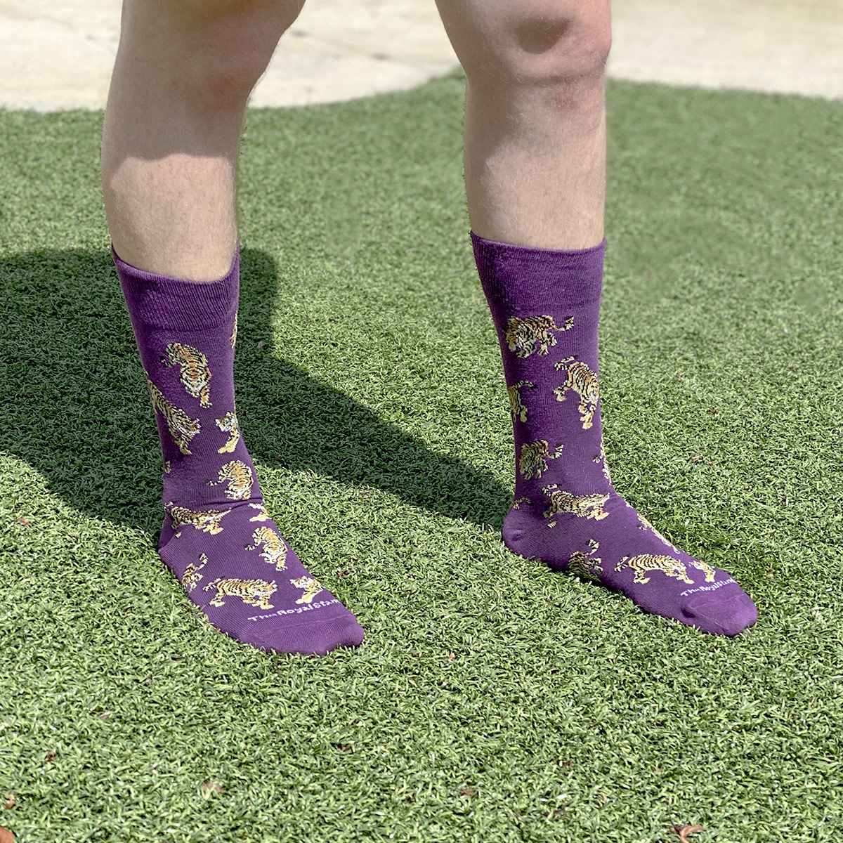 Tiger Socks PURPLE/GOLD