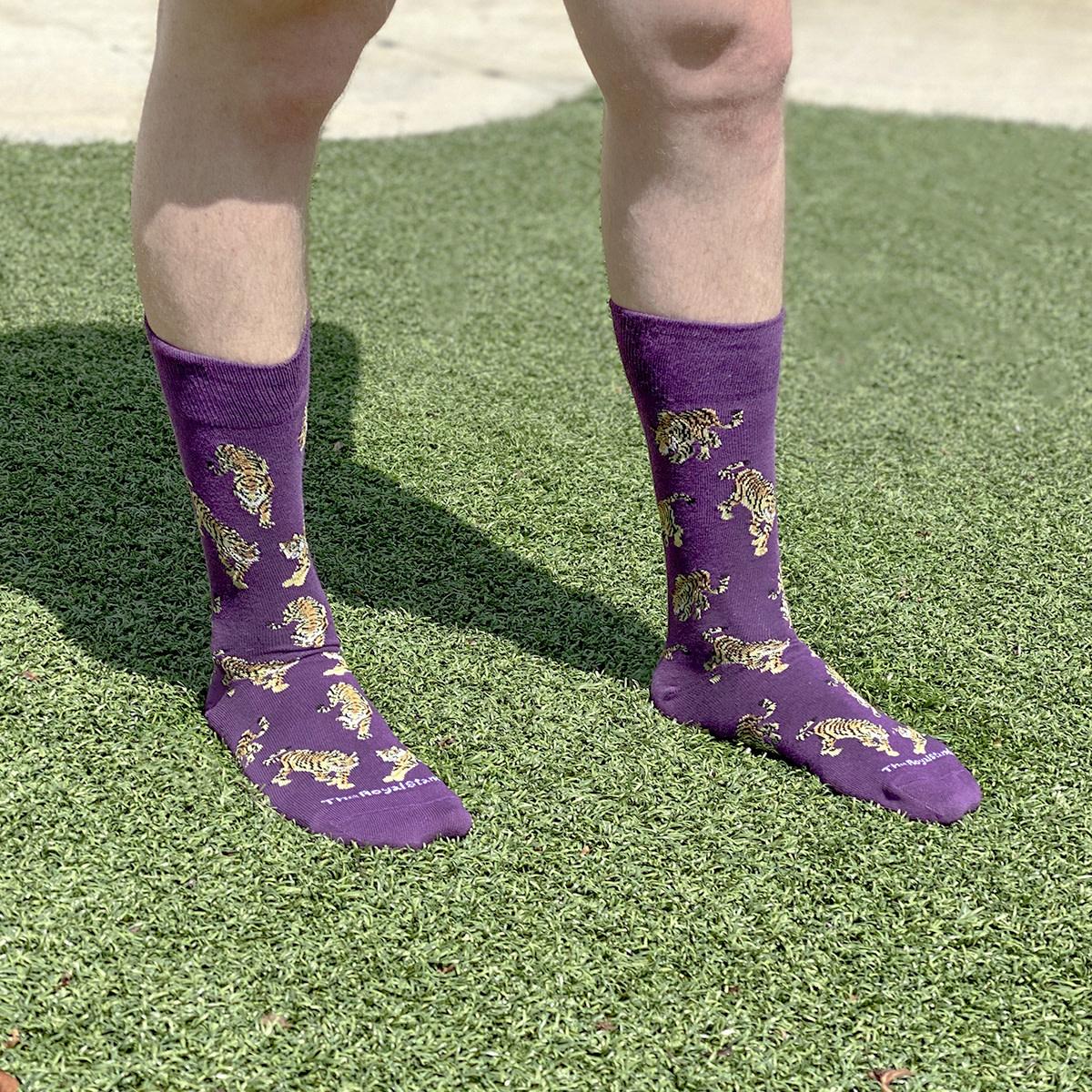Tiger Socks PURPLE/GOLD