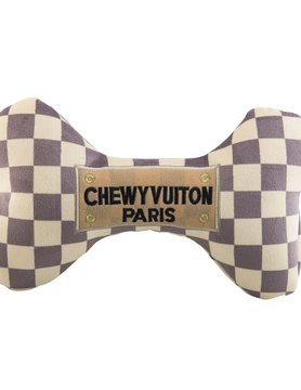 Checker Chewy Vuiton Bone Toy XL