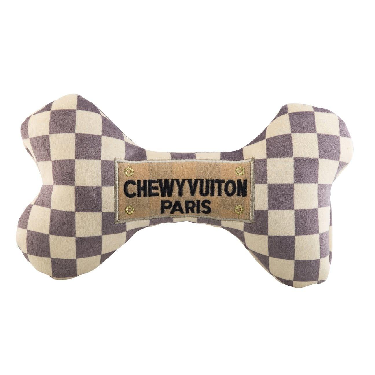 Checker Chewy Vuiton Bone Toy XL