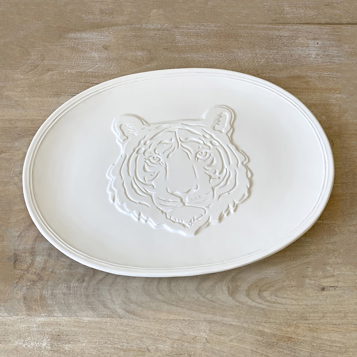 Tiger Embossed Platter