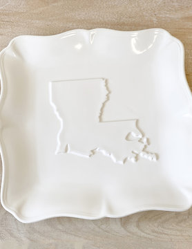 Louisiana Embossed Platter