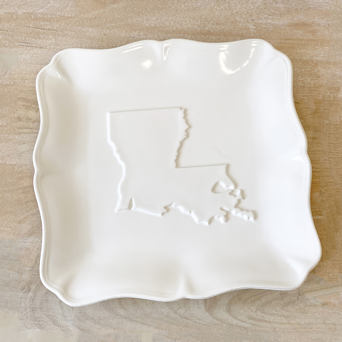 Louisiana Embossed Platter